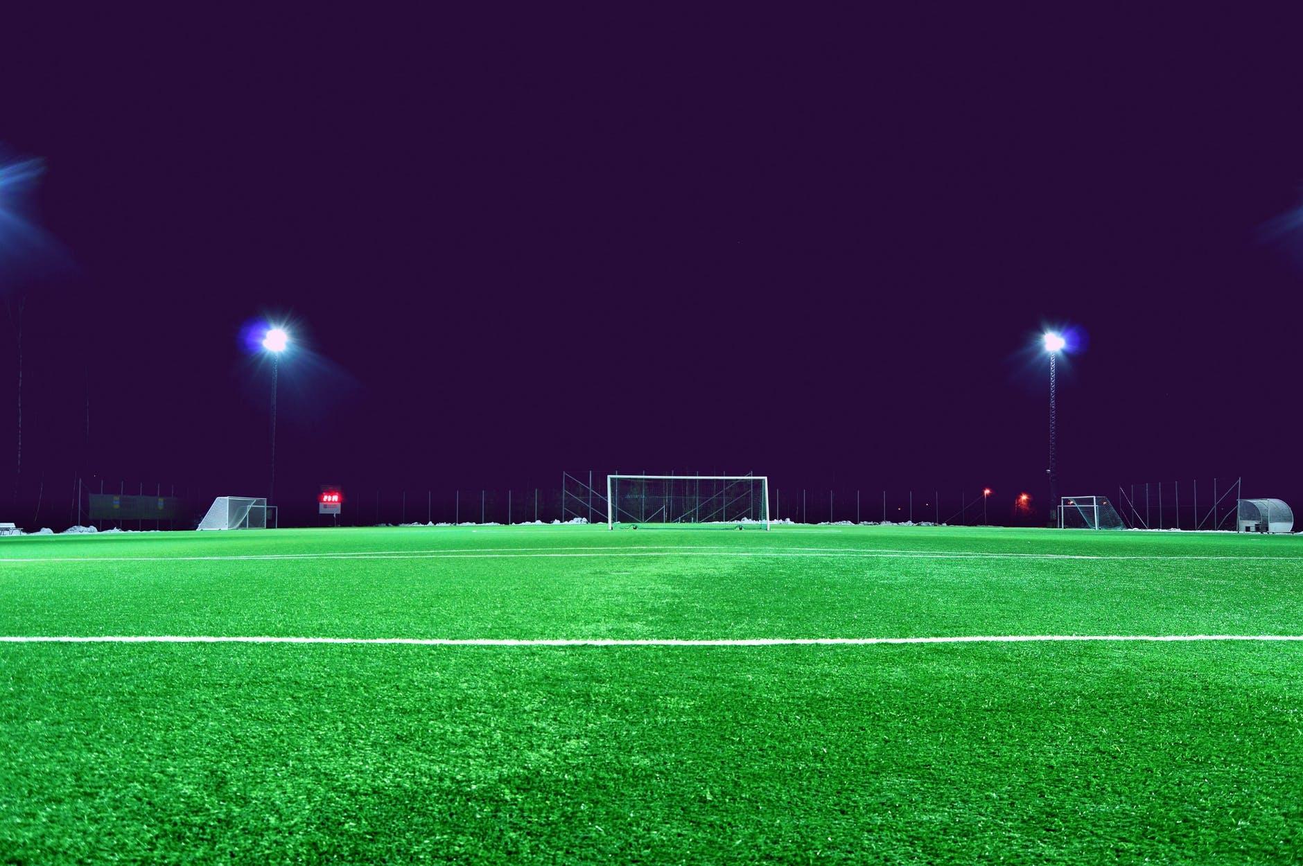 evening field football field goal